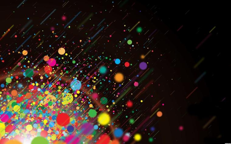 Gli sfondi più belli del mondo, immagine con colori astratti, sfondo di colore nero