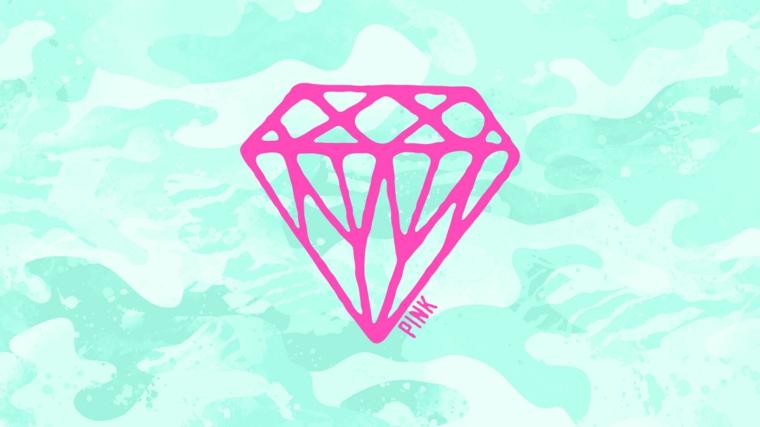 Sfondi bellissimi, immagine con colori astratti, immagine con disegno di un diamante rosa