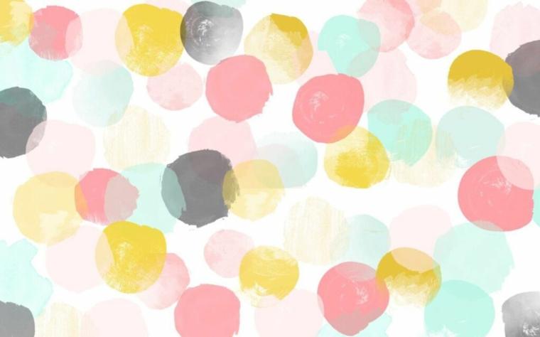 Sfondi bellissimi, immagine con macchie colorate, immagine per schermo del computer