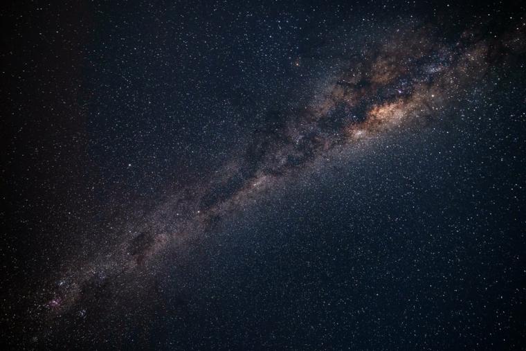 Immagine del cosmo, foto con stelle e via lattea, immagine per lo schermo del computer