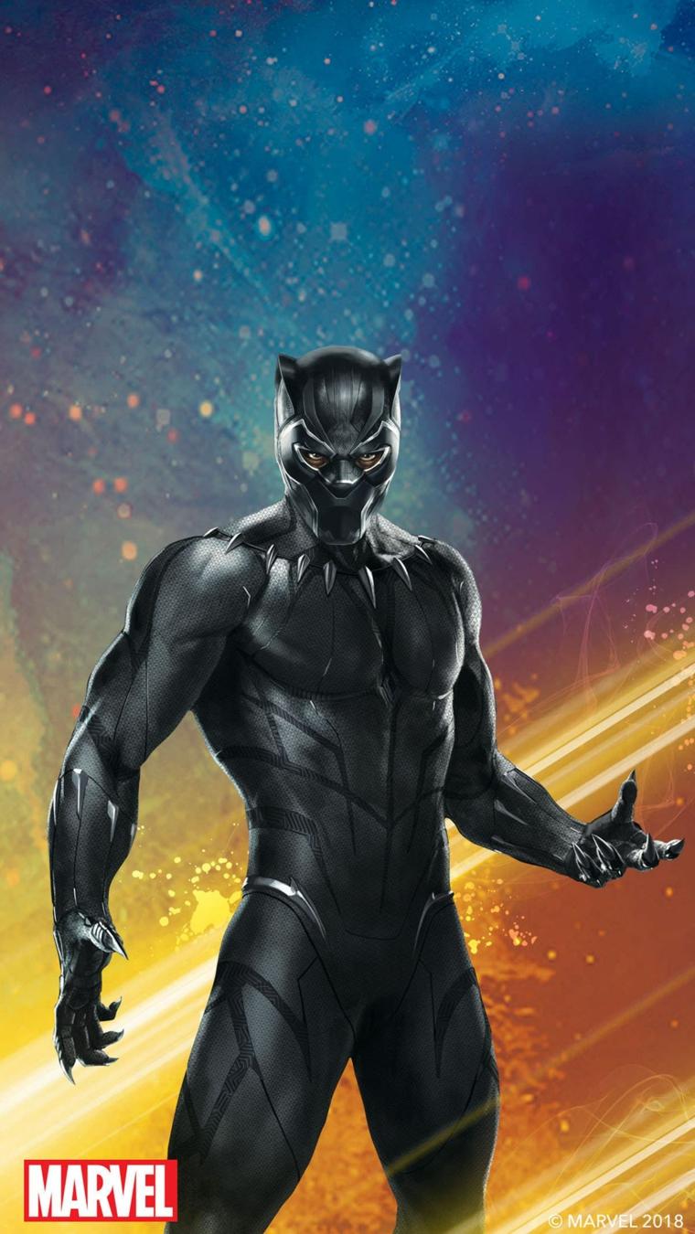 Foto della Pantera Nera del film della Marvel, immagine da scaricare sul telefono