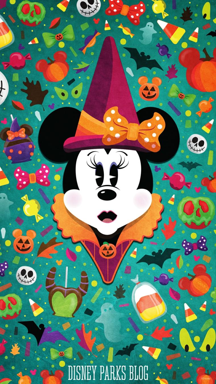 Immagine di Minnie Mousse con capello per Halloween, immagini sfondo cellulare