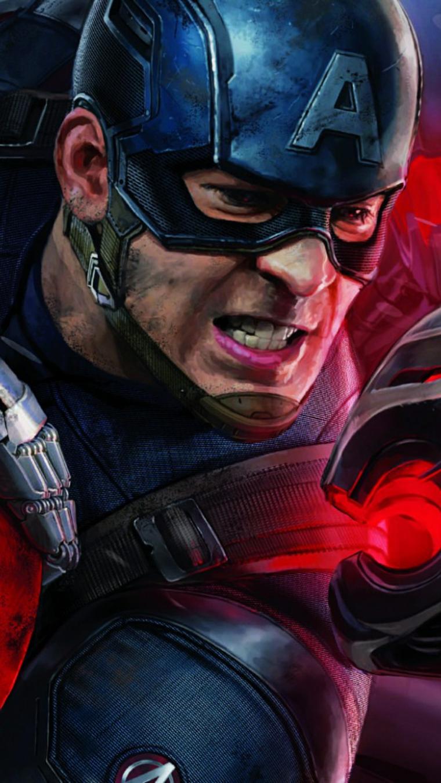 Foto di Capitan America degli Avengers, immagine per lo schermo del telefono cellulare