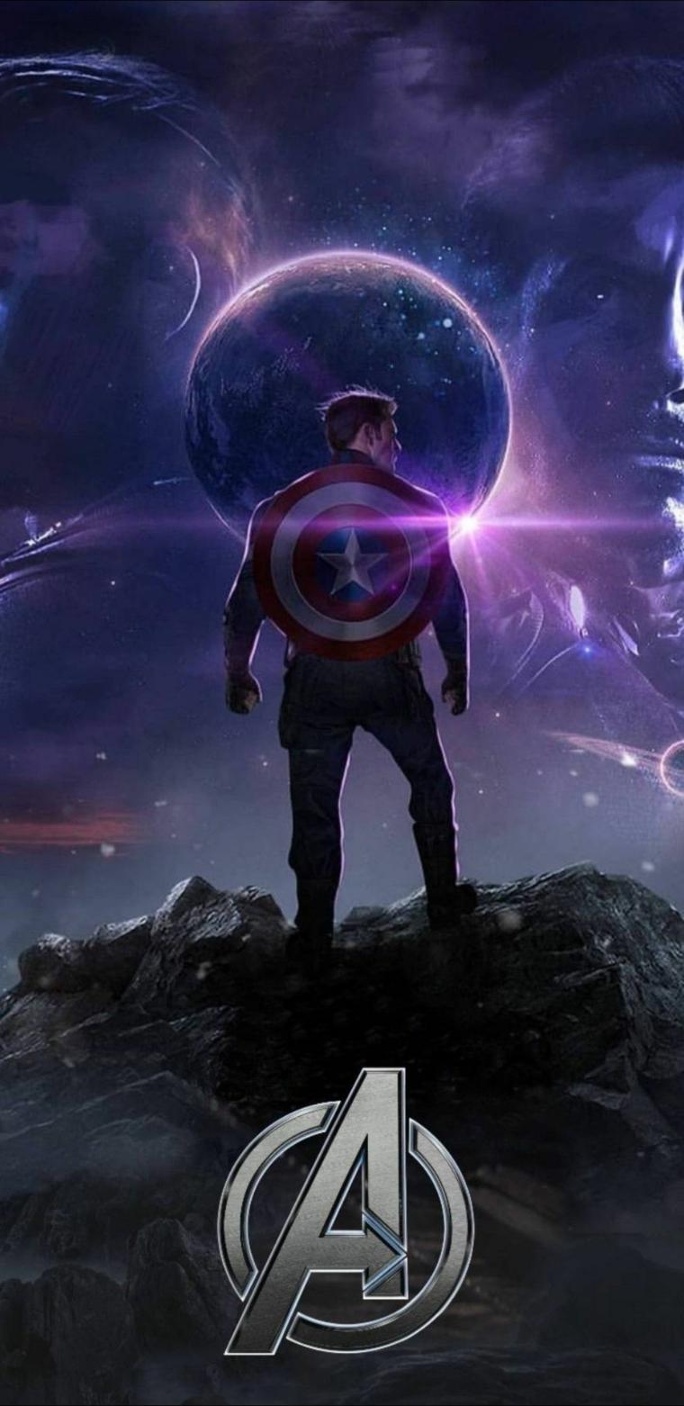Foto di Capitan America, foto per lo schermo del telefono da scaricare
