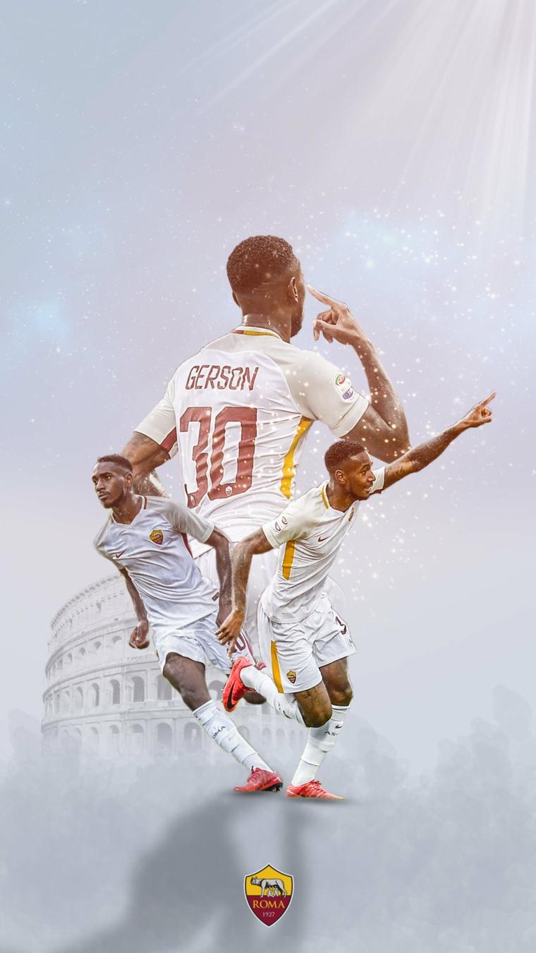 Foto calciatori della Roma per lo schermo del telefono, immagine calciatore Roma