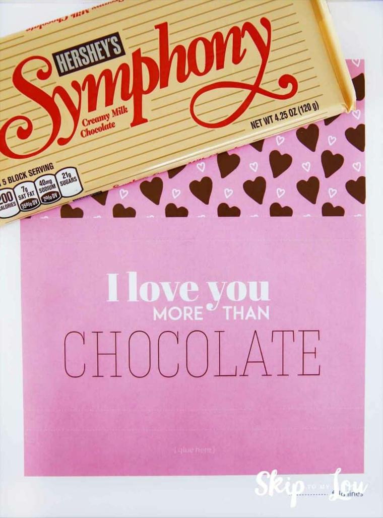 Barrette di cioccolato incartate con scritte personalizzate, cosa regalare a San Valentino