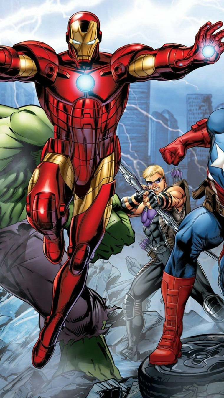 Immagine disegno colorato di Iron Man, immagine da scaricare sul telefono