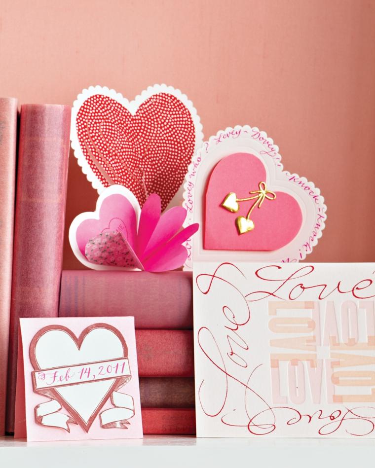 Sorprese san valentino, bigliettini di carta a forma di cuore, scritte su bigliettini donna