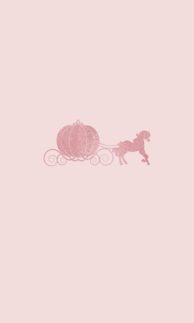 Sfondi per telefono, immagine con sfondo di colore rosa, sfondo con immagine di un cavallo e carrozza
