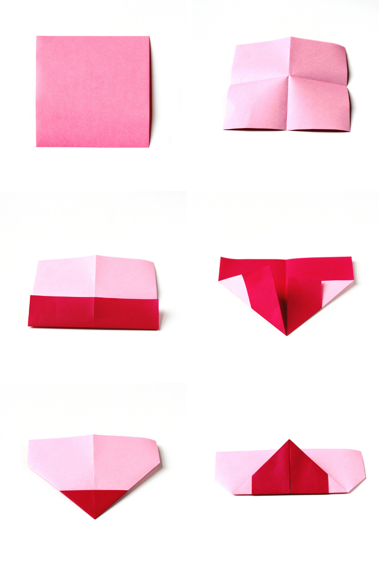 Tutorial per origami cuore con foglio rosso, cosa regalare a san valentino
