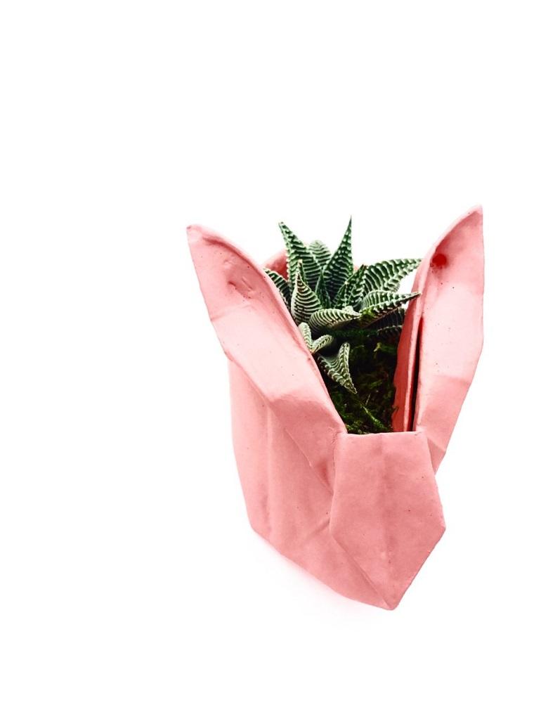 Origami facile, cestino per piante di carta colorata per origami