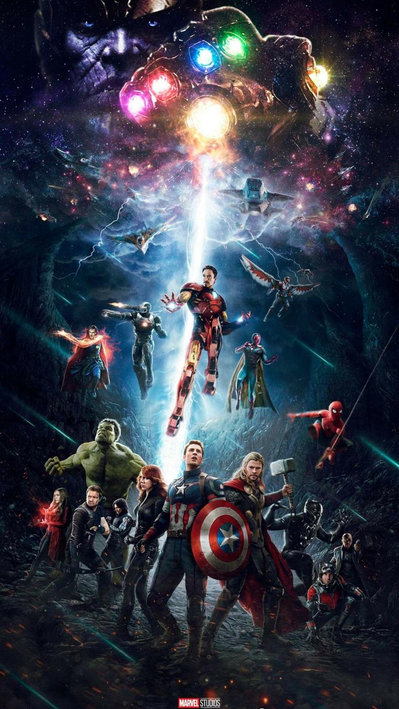 Immagine da scaricare per lo schermo del telefono, immagine degli Avengers di Marvel