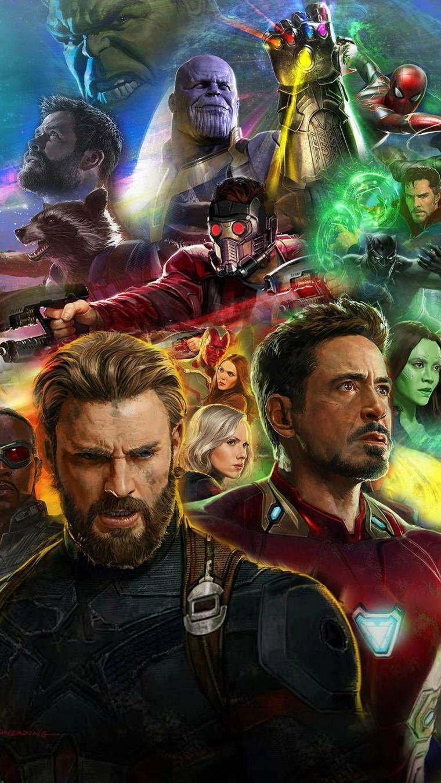 Immagine degli eroi degli Avengers della Marvel, immagine da scaricare sul telefono