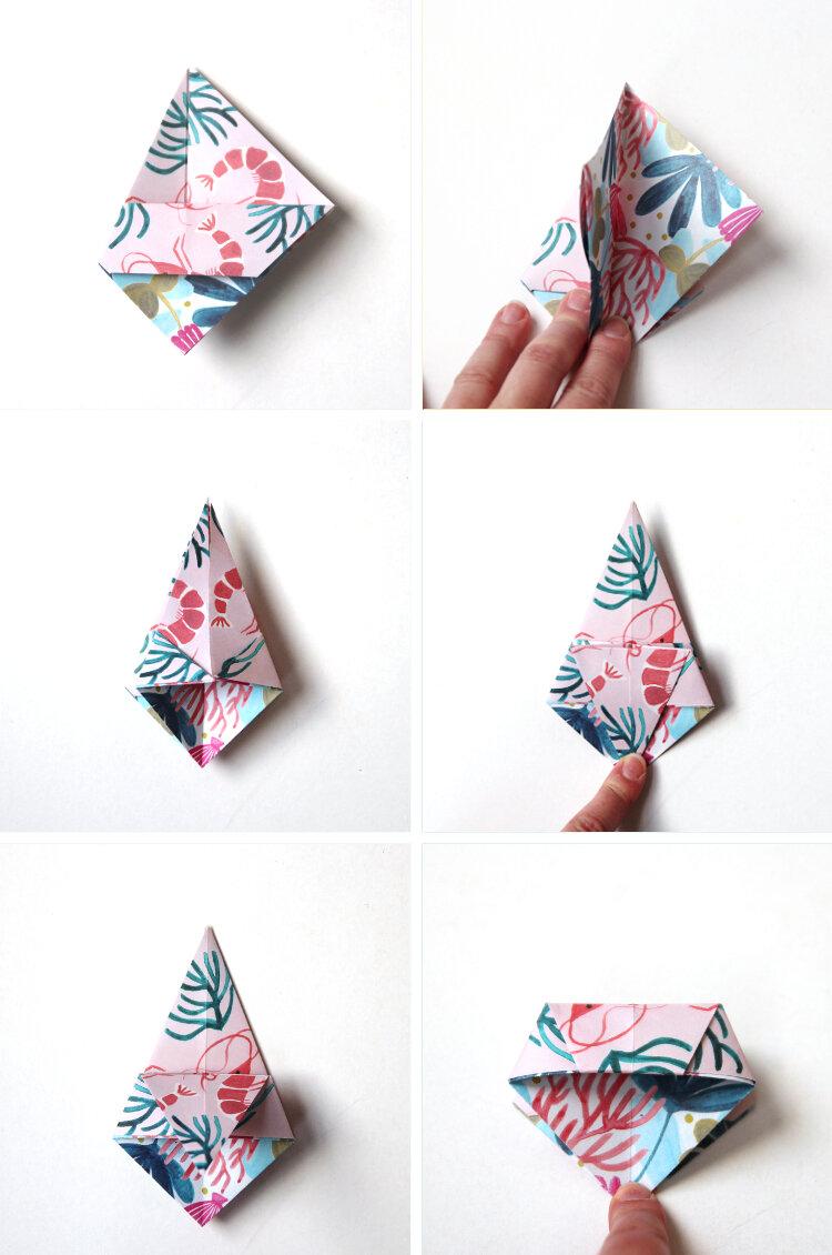 Lavoretti per bambini facili, piegare un foglio di carta per origami