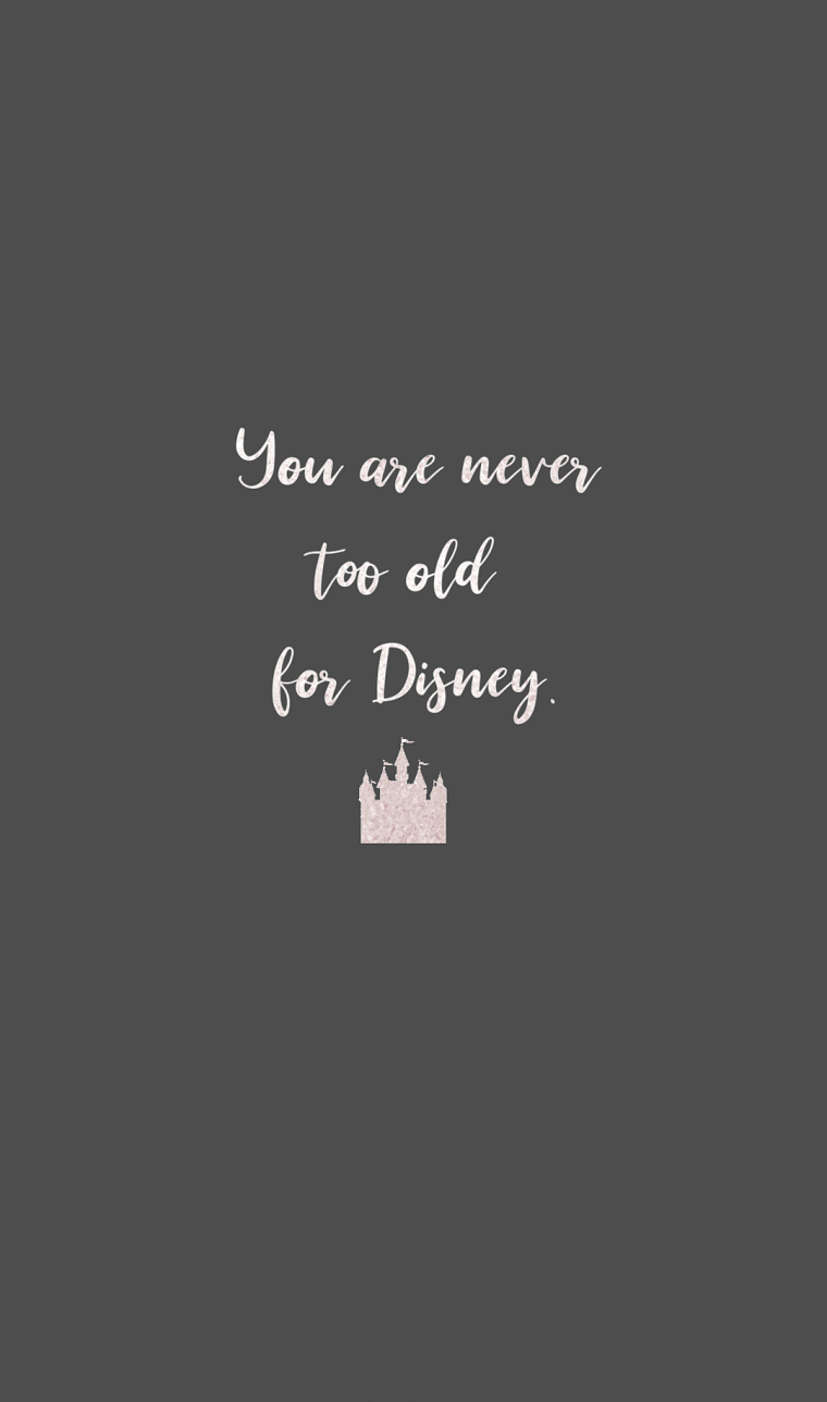 Sfondi per smartphone, sfondo per telefono di colore scuro con scritta Disney