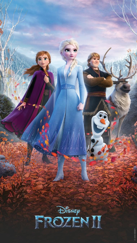 Sfondi per telefono, immagine di Elsa e Anna di Frozen 2 con Olaf