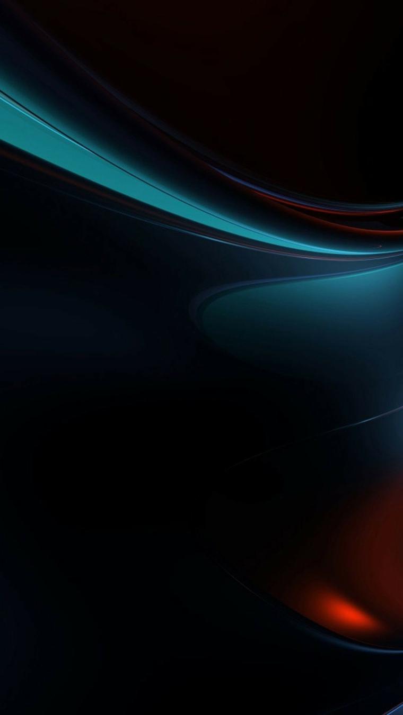 Sfondi schermata home, immagine con linee di colore blu su sfondo nero