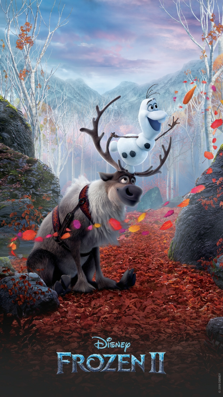 Sfondi per telefono, immagine della Renna Sven del cartone della Disney Frozen 2