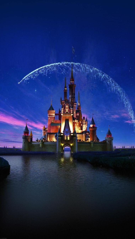 Sfondi huawei, foto del castello della Disney e cielo di colore blu scuro