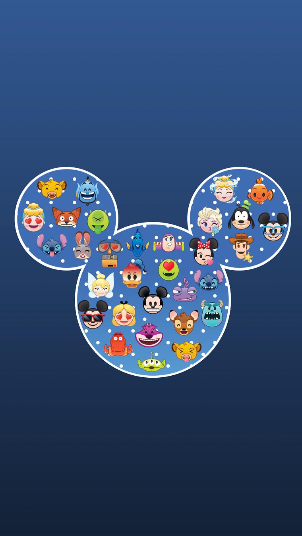 Sfondi per cellulare, disegno di Mickey Mousse con i personaggi della Disney