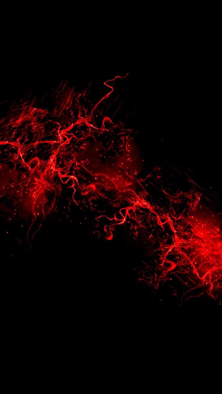 Sfondi huawei, immagine con sfondo di colore nero e fumo di colore rosso