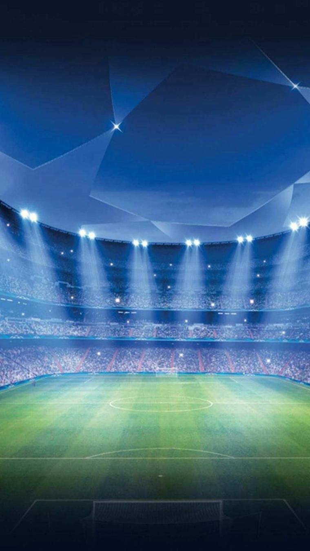 Foto di un campo da calcio con luci, immagine da scaricare sul telefono