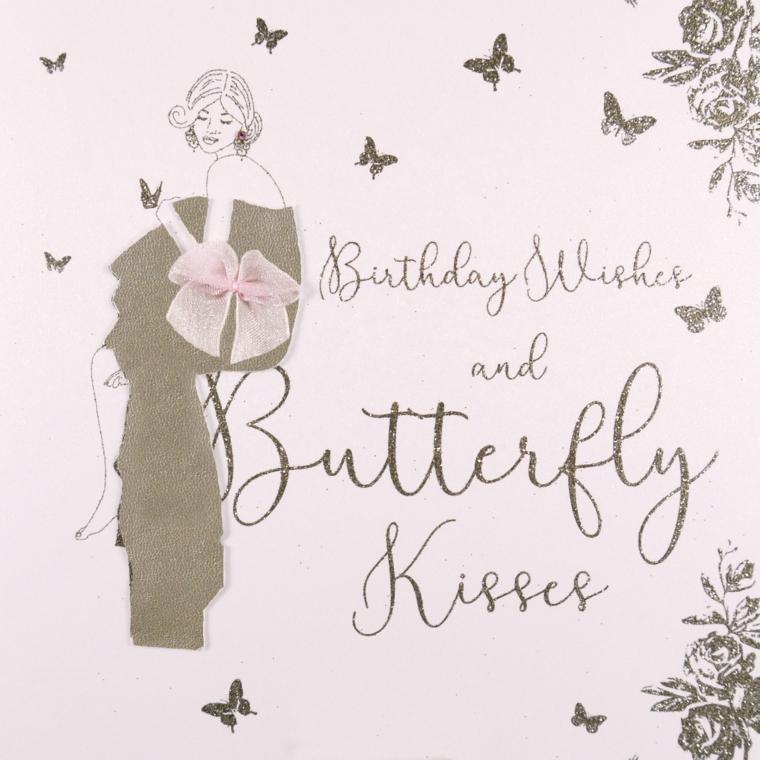 Tanti auguri di buon compleanno, cartolina con disegno a matita e scritta in inglese