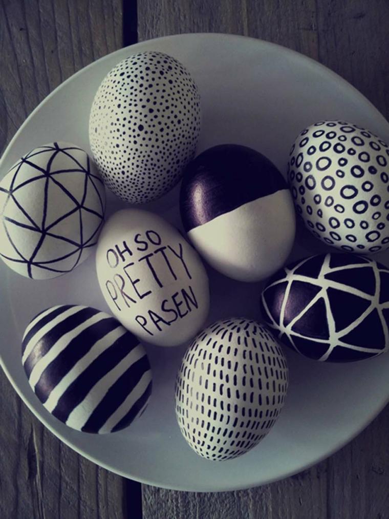 Immagini di Pasqua divertenti, foto di un piatto con uova pasquali colorate