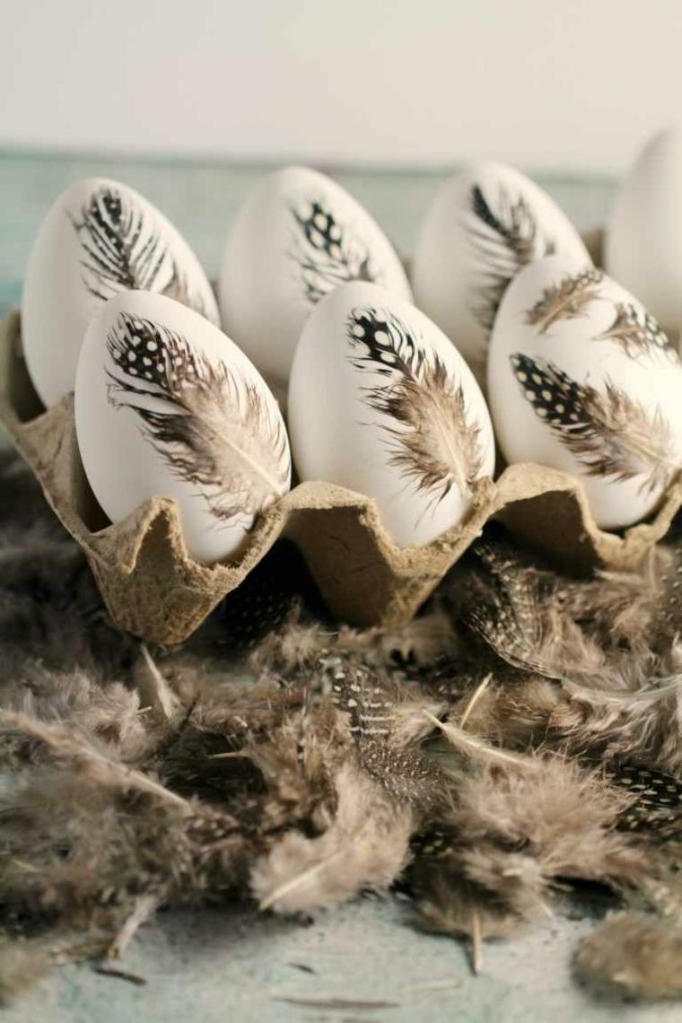 Auguri di Pasqua divertenti, foto do uova pasquali con disegni di piume