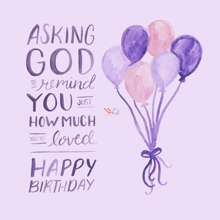 Auguri di buon compleanno originali, disegno di palloncini e scritta in inglese