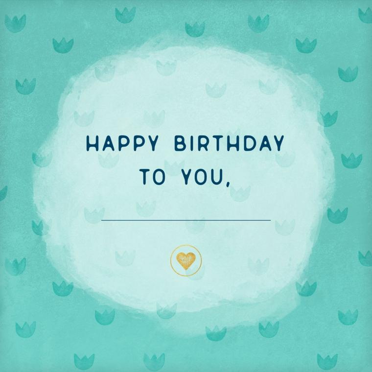 Immagini di buon compleanno, foto con sfondo di colore blu e scritta in inglese