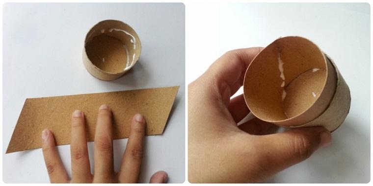 Incollare con colla pezzettini di cartoncini, lavoretti per bambini con la carta
