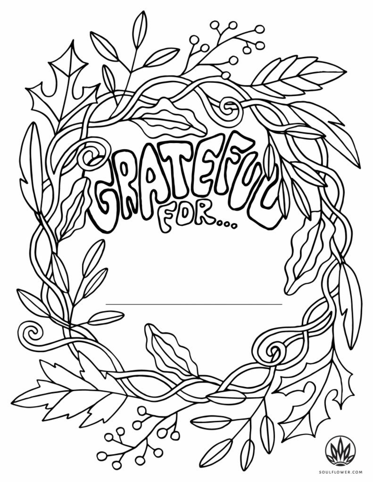 Disegni sull'autunno da colorare e stampare, disegno di una corona con foglie