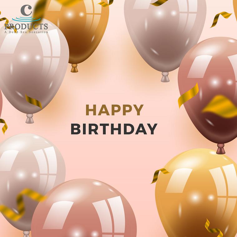 Immagini auguri di compleanno simpatici, immagine con palloncini e scritta