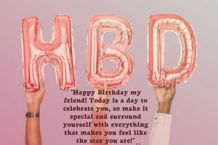 Auguri di buon compleanno originali, palloncini a forma di lettere e scritta augurio