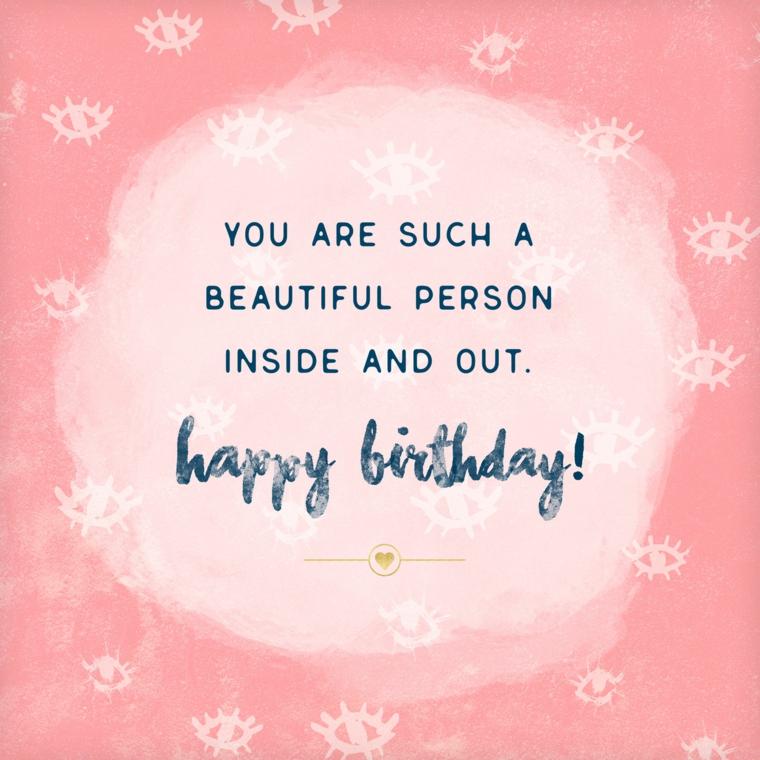 Auguri di compleanno simpatici, immagine con sfondo rosa con scritta in inglese