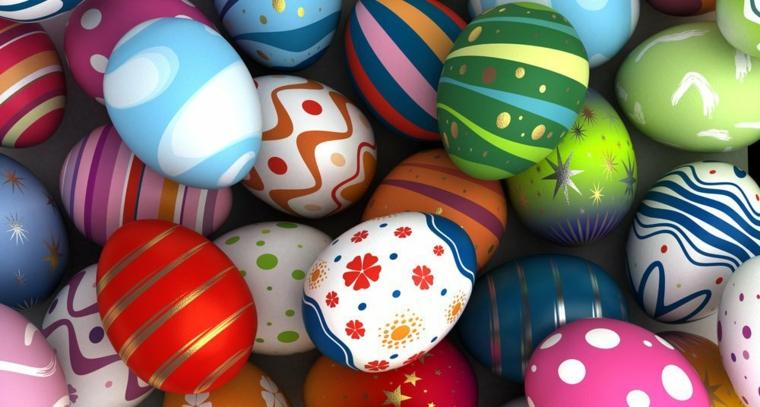 Immagini di buona Pasqua gratis, foto di uova pasquali colorate e disegnate