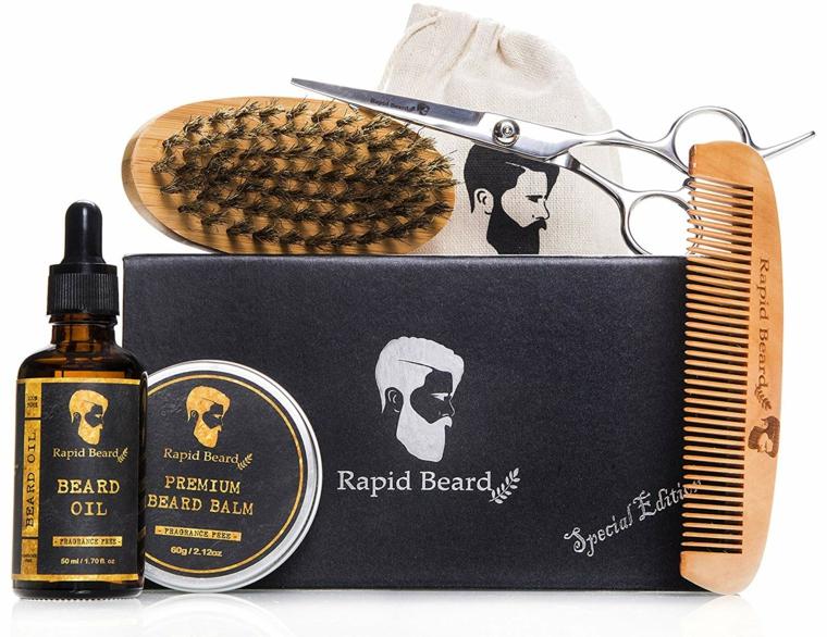 Cosa posso regalare al mio ragazzo per l'anniversario, kit con spazzole per capelli e barba