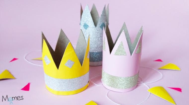 Come costruire oggetti di carta, coroncine con elastico con rotoli di carta