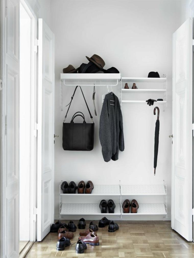 Come fare un porta scarpe fai da te, ingresso con mensole e scaffali