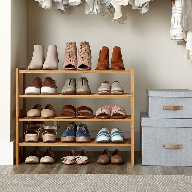 Come fare un porta scarpe fai da te, mobile di legno con scaffali per le scarpe