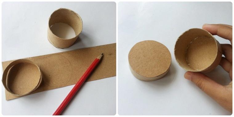 Creazioni con la carta, disegno di cerchi con la matita su cartoncino