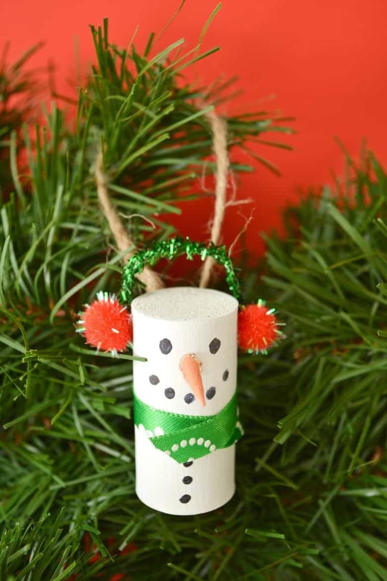 Albero di Natale con tappi di sughero, tappo di sughero a forma di pupazzo di neve