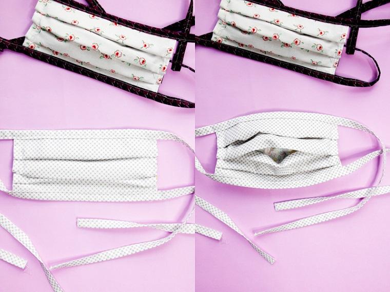 Mascherina con filtro, foto di mascherine con tasca interna per il filtro