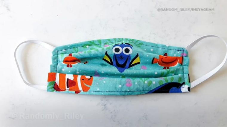 Tutorial per una mascherina di stoffa per bambini, mascherina con stoffa print Nemo