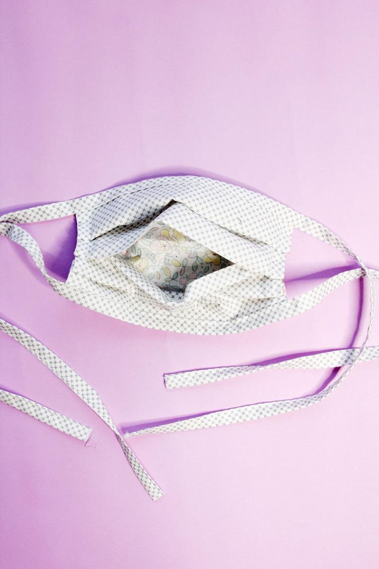 Come fare le mascherine antivirus fai da te, foto di una mascherina con tasca