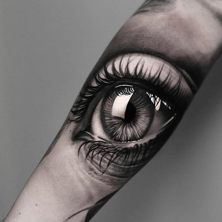 Significato ochio egizio, tatuaggio disegno occhio sul braccio di un uomo