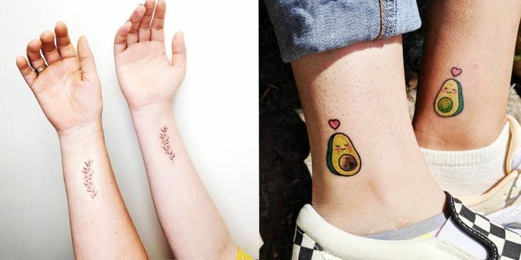 Tattoo simbolo amicizia, tatuaggio sul polso della mano con disegno fiore di lavanda