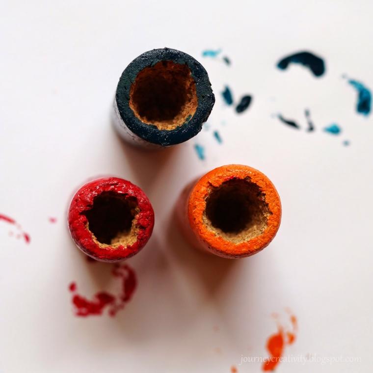 Dipingere dei tappi di sughero, creazioni con tappi di sughero