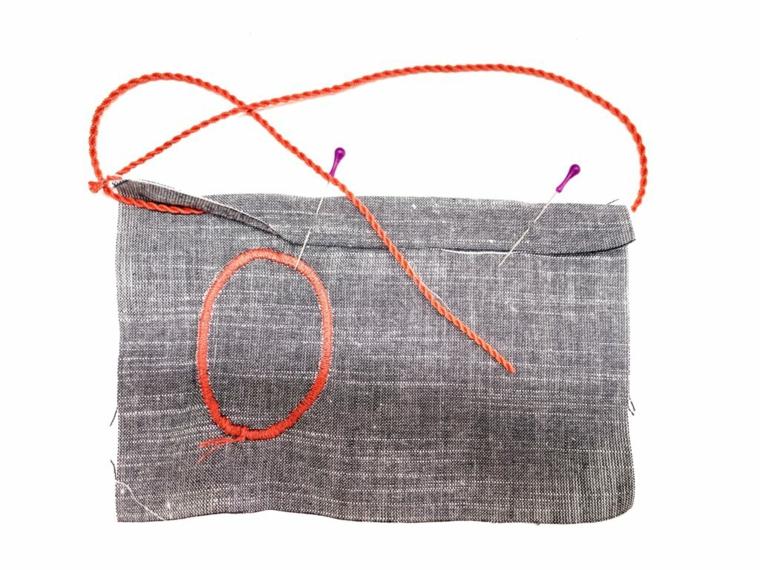 Tutorial come cucire un sacchettino, festa dei nonni lavoretti, cucire con filo rosso